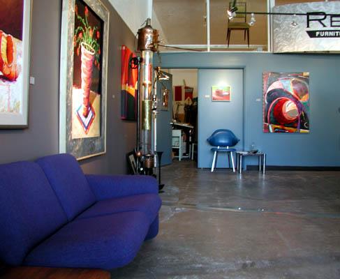 Interior of Chroma Gallery
