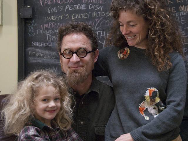 Tracey Strauss and Brad Slaugh with their daughter Sophie