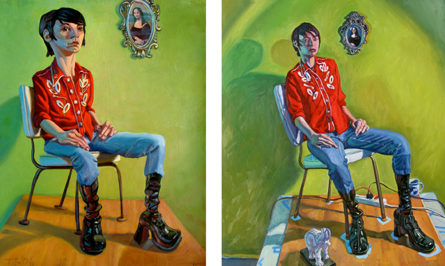 Paintings of Cassandra by Tracey Strauss and Brad Slaugh