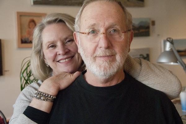 Leslie Thomas & Mark Knudsen in their shared studio, Photo by Bill Fulton