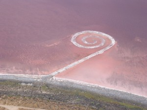 Spiral Jetty, August 2005, photo by Hikmet Sidney Loe