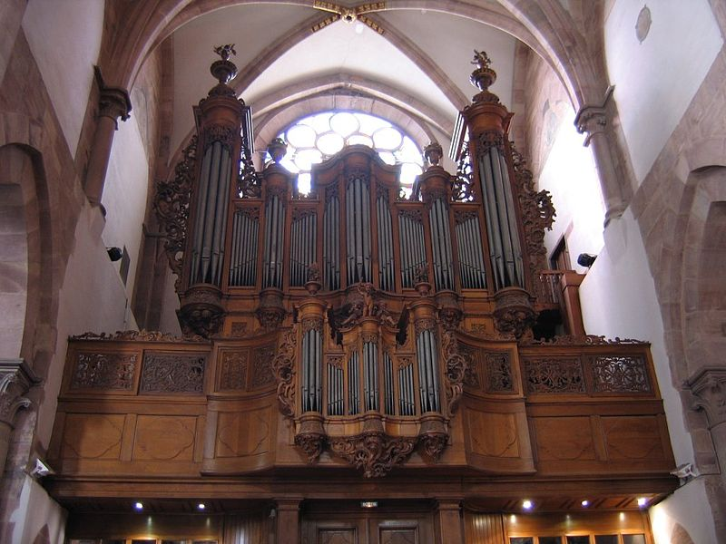 Orgue Jean-André Silbermann de l'église Saint Thomas de Strasbourg Photo : Duomaxw (08/2005)