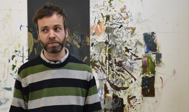 Utah Artist Steve Larson in his SLC studio