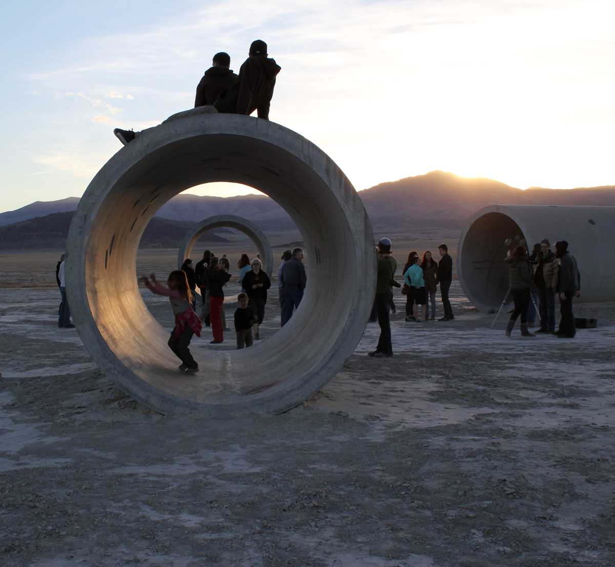 Sunset at sun tunnels artists of utah s 15 bytes for What is a sun tunnel