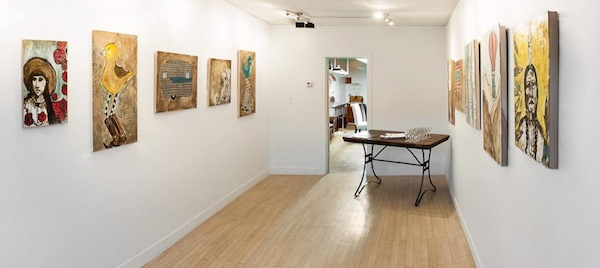The gallery space at Nata Gallery. Image by Anne Stephenson, whose work will be on display during this Friday's open house.
