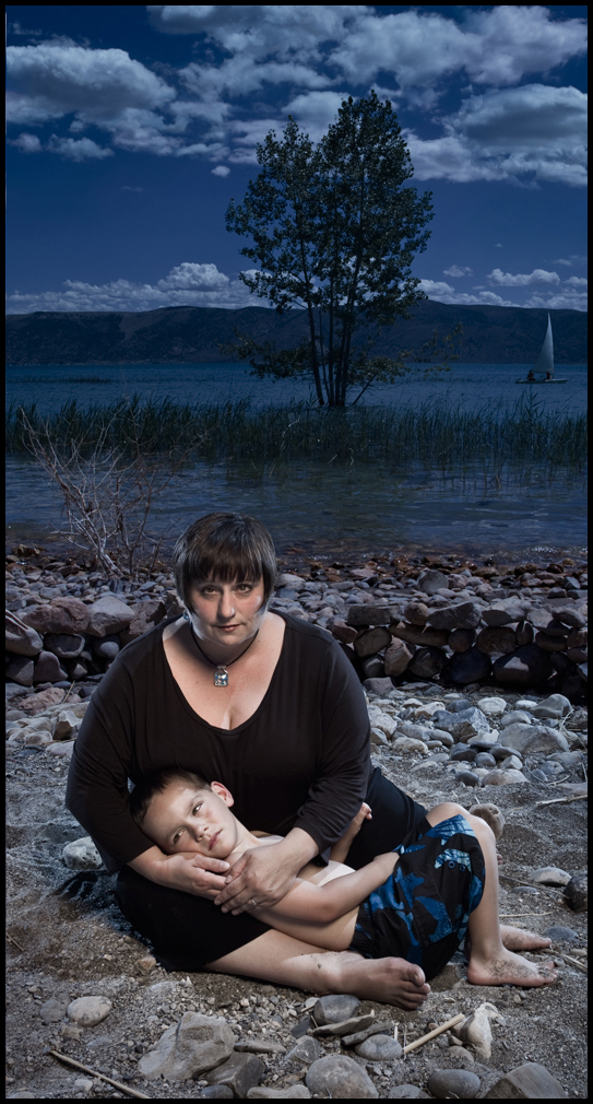 """Photo by Christopher Gauthier of wife Jacqui and son, from """"Evidence and Artifacts"""" series"""