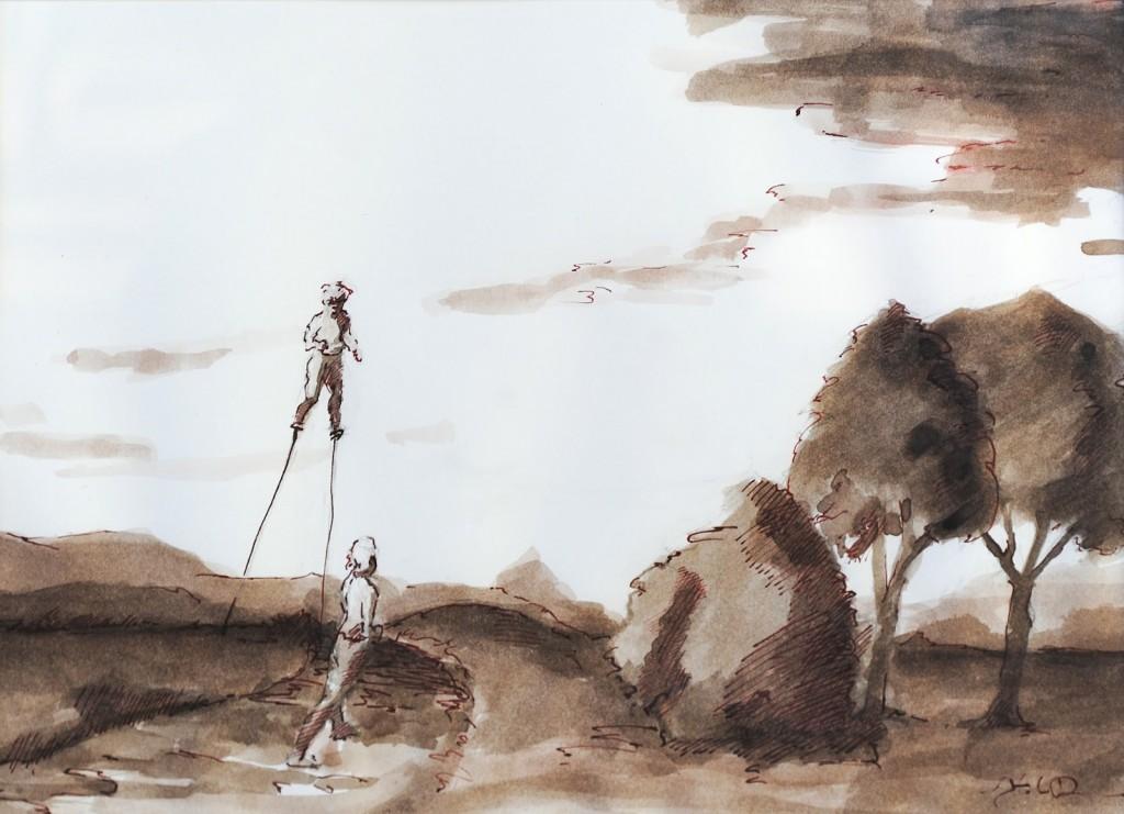 Stilts #7 by Stephen Duncan, 5x6 in.