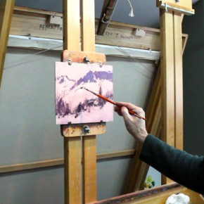 John Hughes Paints a Snow Scene