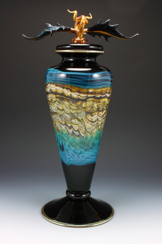 Danielle Blade's Black Saragossa series of vessels is on exhibit at The Dancing Hands Gallery in Park City.