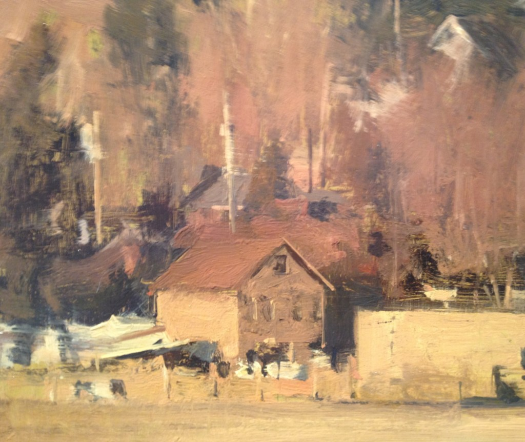 Old Farm With Boat by Michael Workman.