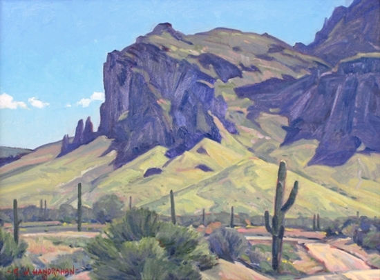 Superstition Mountain by George Handrahan.