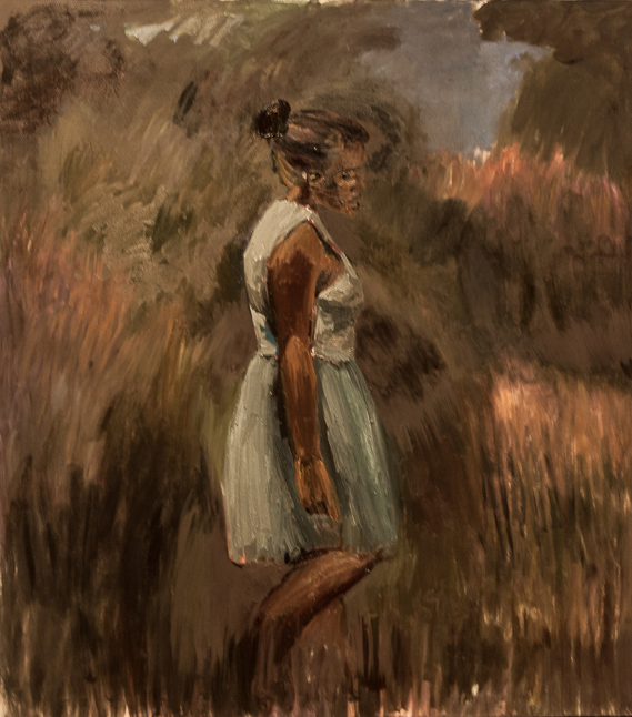 Periphery by  Lynette Yiadom-Boakye, newly purchased by the Utah Museum of Fine Arts