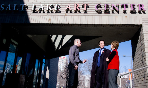Jay Heuman, Adam Price, and Leslie Peterson discuss the search for a new director, outside the Salt Lake Art Center