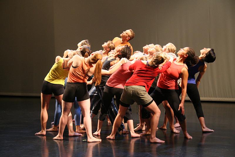 Repertory Dance Theatre rehearses José Limón's Missa Brevis.