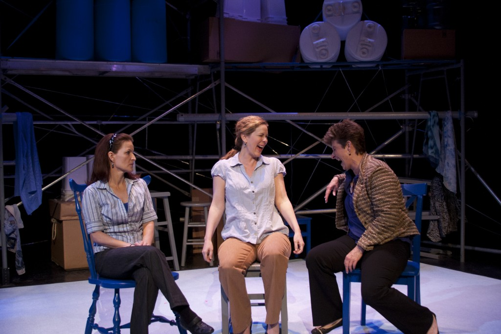 """Stephanie Howell, Christy Summerhays and Teresa Sanderson in Eric Samuelsen's """"Duets"""" at Plan B Theatre Company. Photo courtesy Rick Pollock."""