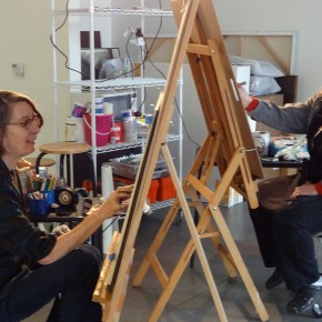 Easel to Easel: Kristina Lenzi and Gretchen Reynold's Durational Draw Out