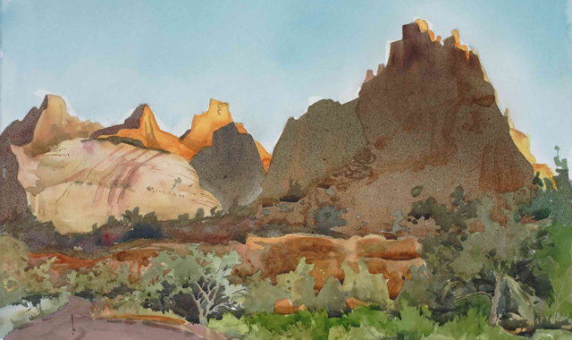 Light on the Reef: En Plein Watercolor Adventure in Capitol Reef