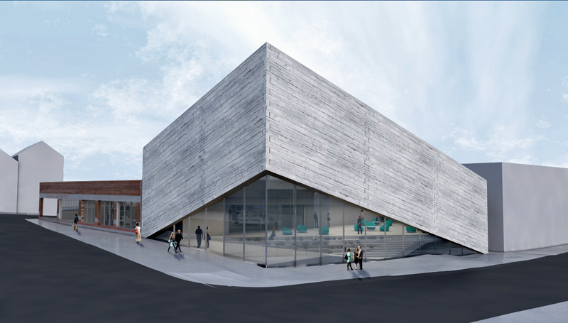 Rendering by Bjarke Ingels Group of the 2nd design for Park City's Kimball Art Center has run afoul of the town's Historic Preservation guidelines.