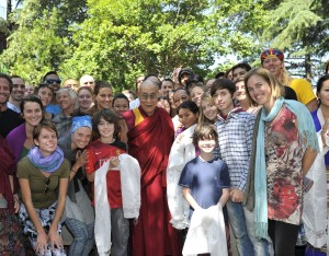 Michael Sowder's sons with others in Dharamsala visiting His Holiness The Dalai Lama.