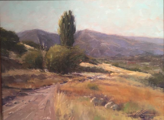 Bountiful Bench by Steven Stauffer, 1st place winner at the Bountiful Davis Plein Air Competition