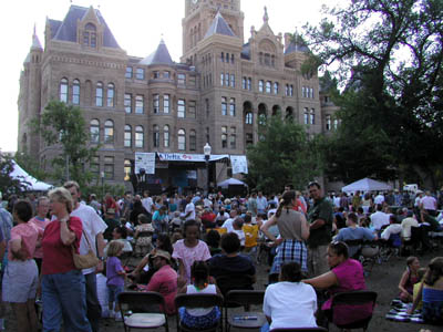 A packed Washington Square hosts the SLC Jazz Festival this past July 4th weekend.