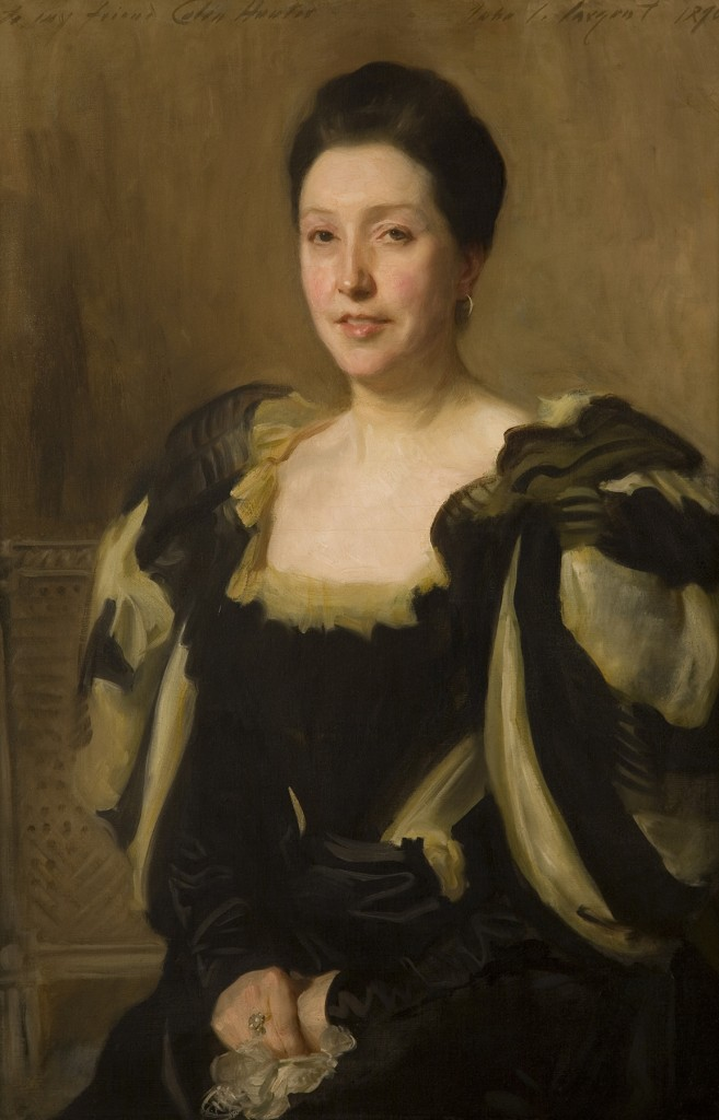 John Singer Sargent, American, Portrait of Mrs. Colin Hunter, 1896, oil on canvas, purchased with funds from the Marriner S. Eccles Foundation for the Marriner S. Eccles Collection of Masterworks, assisted by Mrs. Nathan (Jane) Porter, Emma Eccles Jones, the estate of Dolores Dore (Mrs. George S.) Eccles, and Friends of the Art Museum, UMFA1996.33.1.