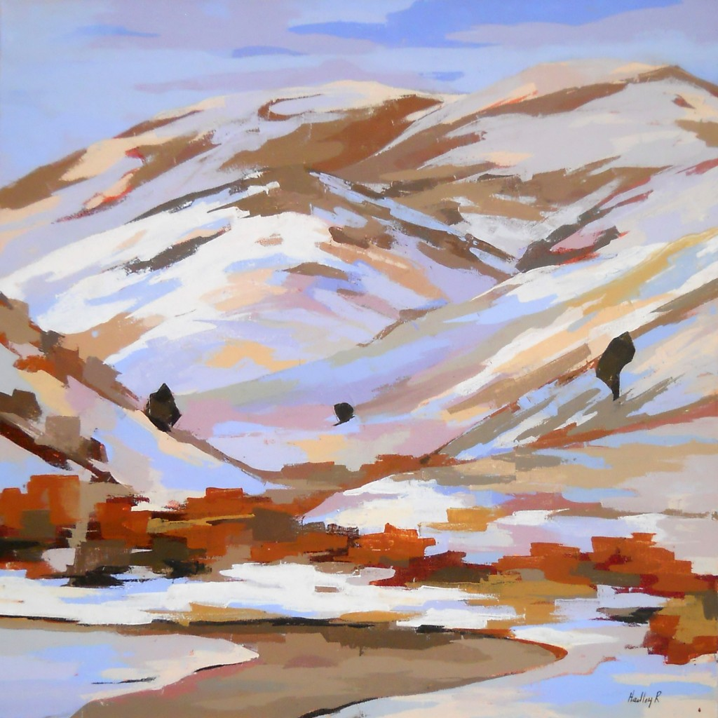 Trois, by Hadley Rampton, oil on canvas, 30 x 30 inches