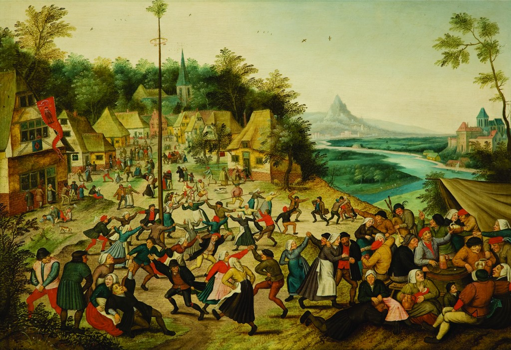 Pieter Brueghel the Younger, Dance Around the Maypole, ca. 1625–1630, oil on canvas, gift of Val A. Browning, UMFA 1992.020.001.