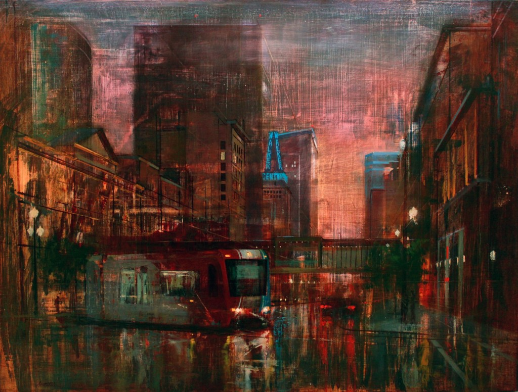Main Street at Dusk by Rob Adamson, December 2015