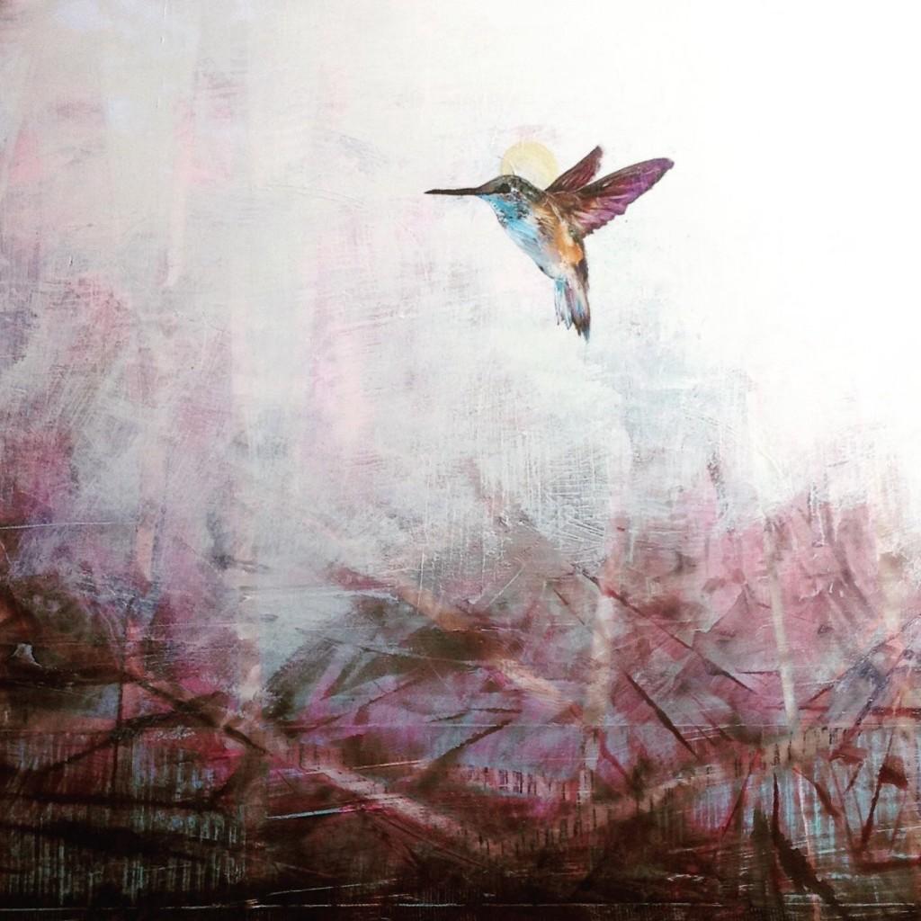 """Above the Brambles of Life"" 36x36"" oil/panel – Jenna von Benedikt"