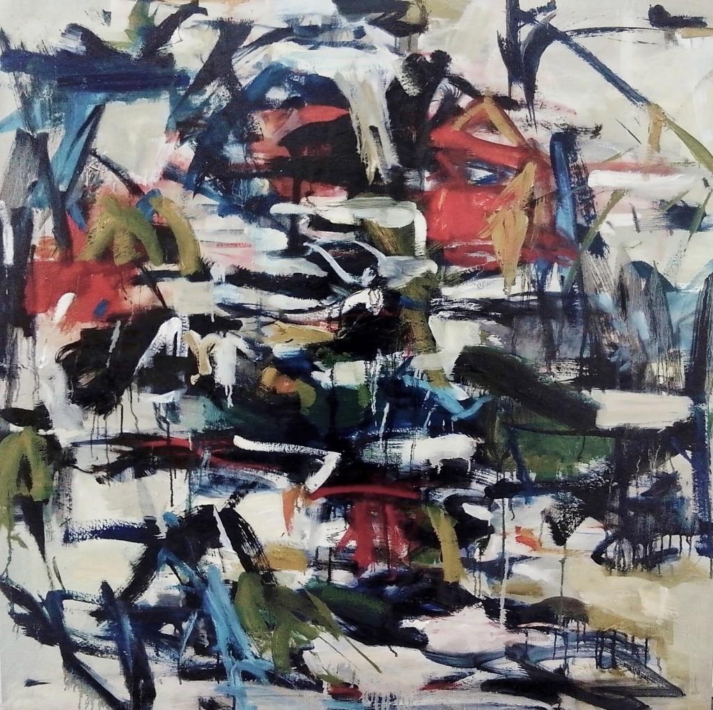 Light My Fire, Oonju Chun, 2013, Oil, 42x42