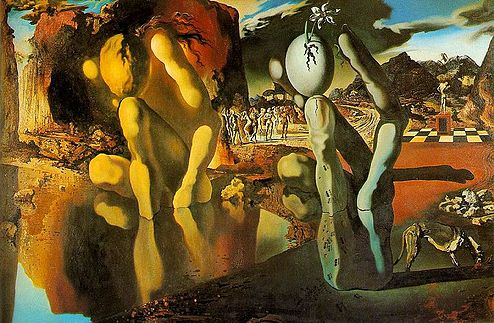 """Metamorphosis of Narcissus"" by Salvador Dali, 1937"