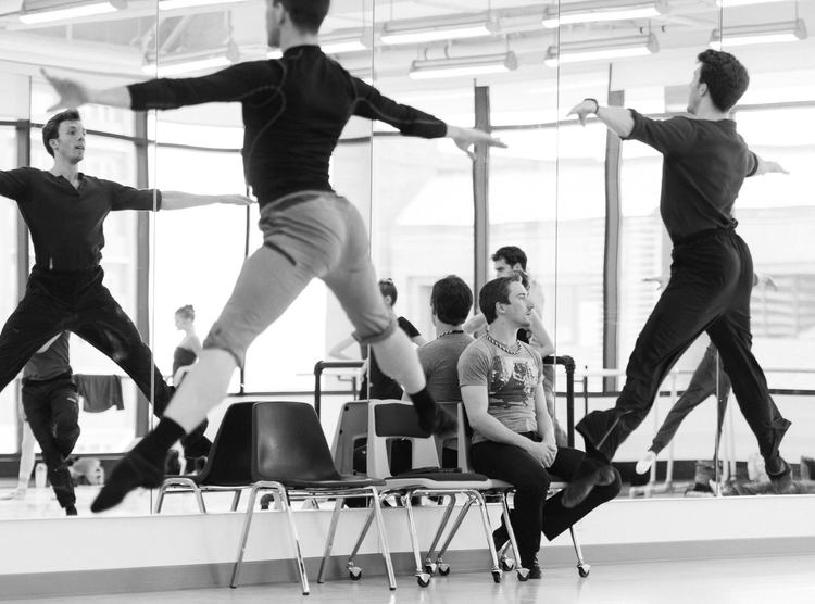 "Artists of Ballet West in rehearsal for Christopher Sellars' ""Barre Spot"". Photo by Chris Peddecord, courtesy of the Ballet West facebook page."