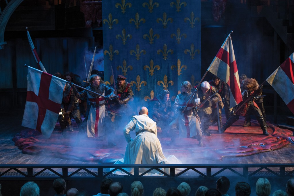 A scene from the Utah Shakespeare Festival's 2016 production of Henry V. (Photo by Karl Hugh. Copyright Utah Shakespeare Festival 2016.)