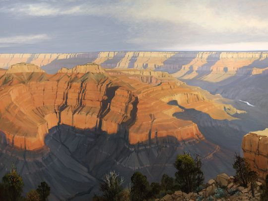 """Point Sublime"" was one of the artist's last works and was donated to the Southern Utah Museum of Art."