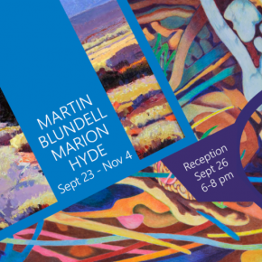 Marion Hyde and Martin Blundell at Bountiful/Davis Art Center