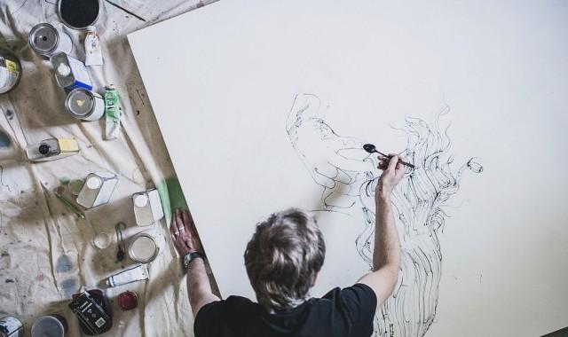 Controlled Chaos: Jimmi Toro mixes paintings, songs & videos at Urban Arts Gallery