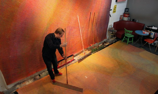 String Theory: Steve Smock turns to his engineering skills for a new body of large-scale paintings at JGO Gallery