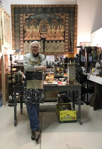 Frank McEntire in his new studio.