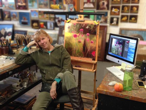 Susan Jarvis in her studio.