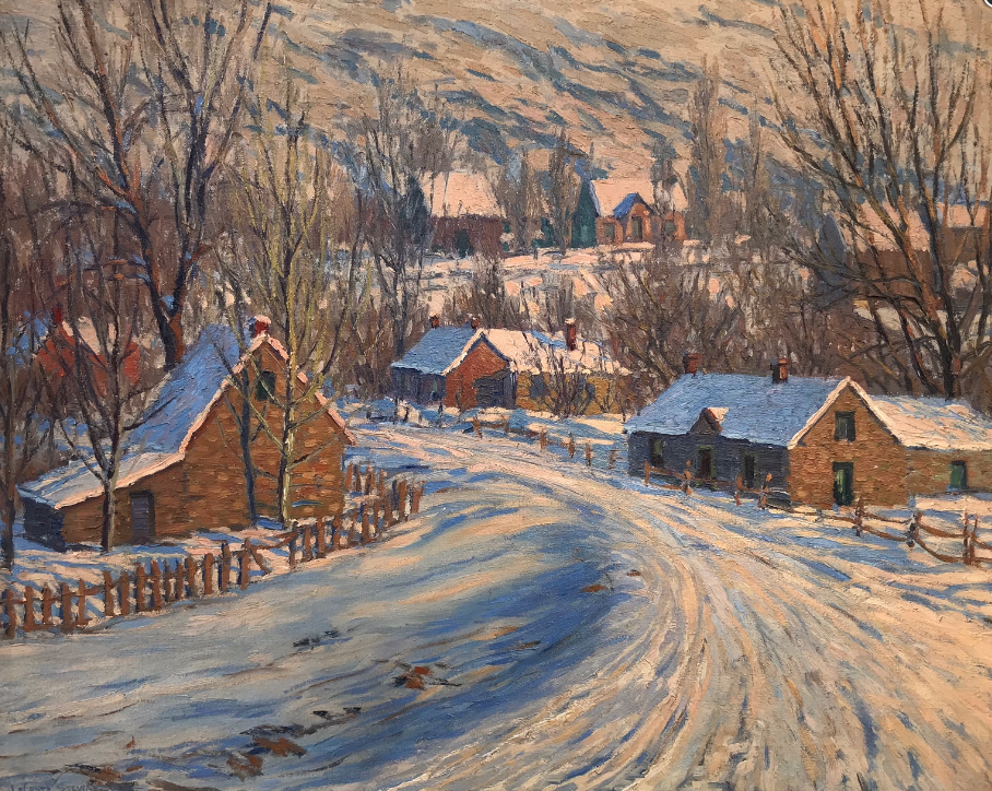 Winter scene by LeConte Stewart