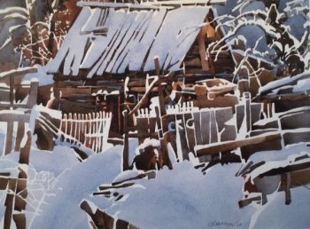 """Snow Barn"" by Ed Maryon"