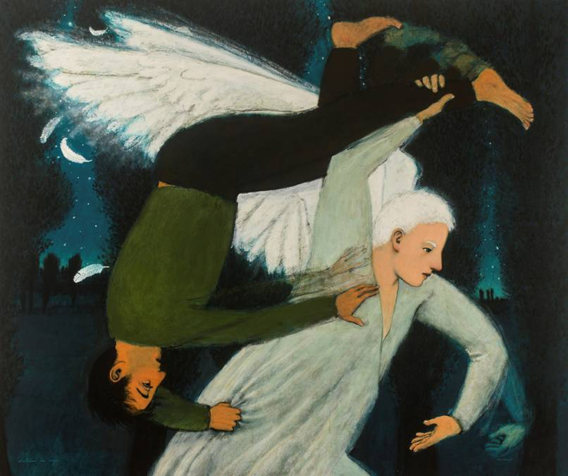 """Wrestling the Angel"" 108″ x 132″"