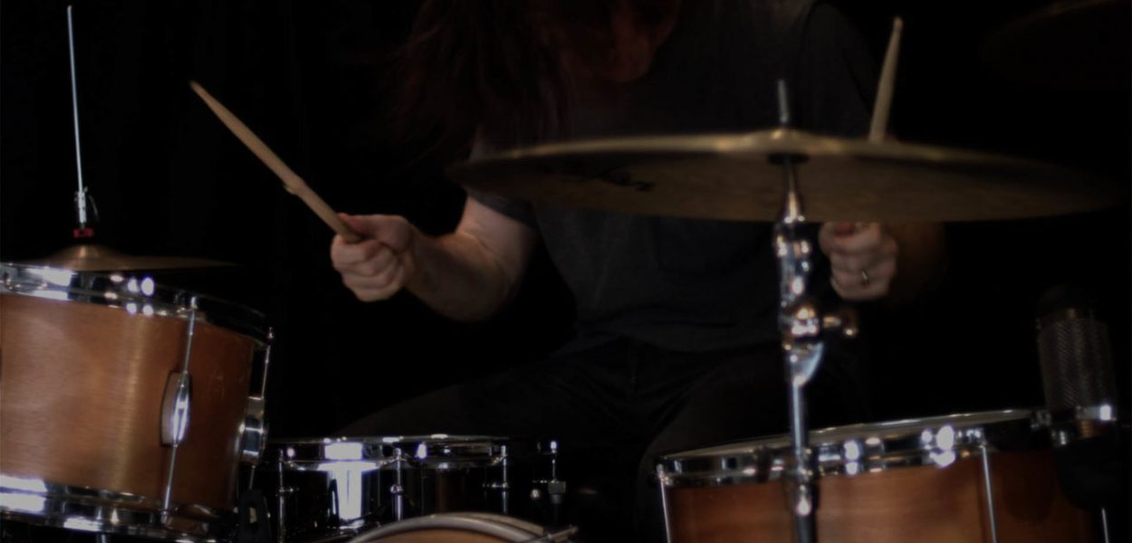 Still from Chase Westfall's video Control, showing drummer Julian Dorio.