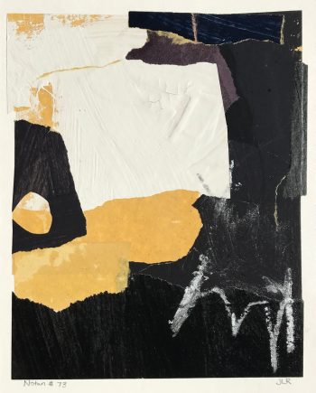 """Notan #73, mixed media on paper on panel, 2018, 8""""w x 10""""h"""