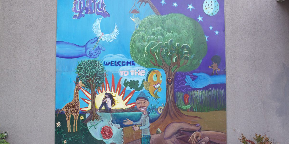 Fourth Street Clinic mural by various Salt Lake City teenagers. Photo by Kelly Green, September 2012.