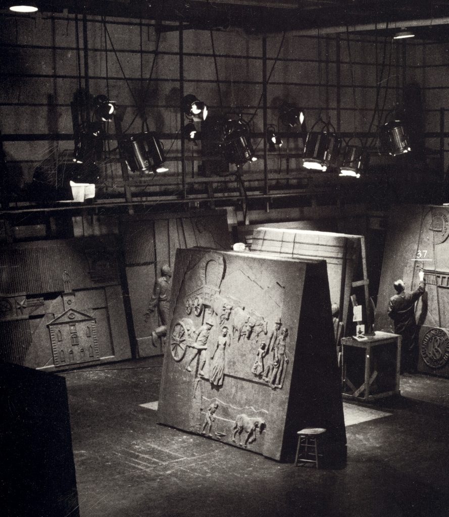 Franz Johansen in his studio.
