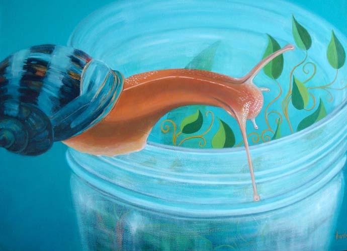 Rim Snail, painting by Trent Alvey